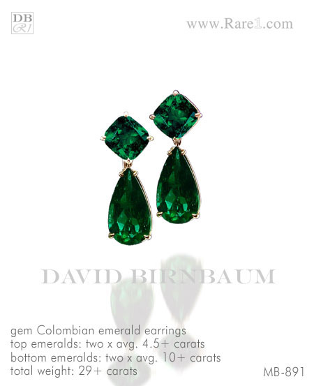 Gem Colombian Emerald Drop Earrings