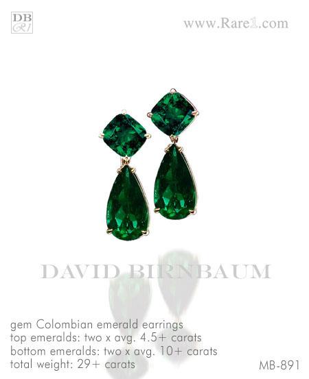 Gem Colombian Emerald Drop Earrings