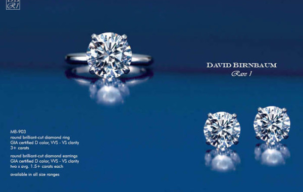 Round Brilliant-Cut Diamond Ring & Earrings