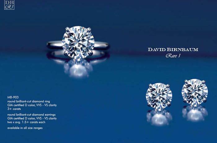Round Brilliant-Cut Diamond Ring & Earrings
