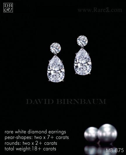 Rare White Diamond Earrings