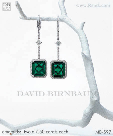Gem Colombian Emerald Cut Earrings