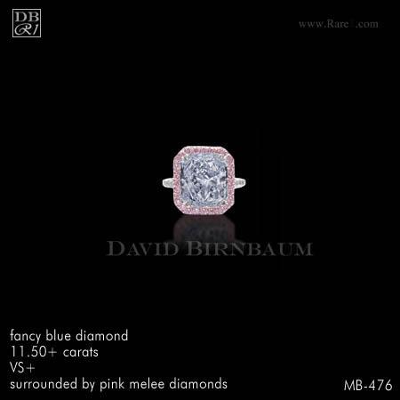 FANCY BLUE / Radiant-Cut Diamond Ring
