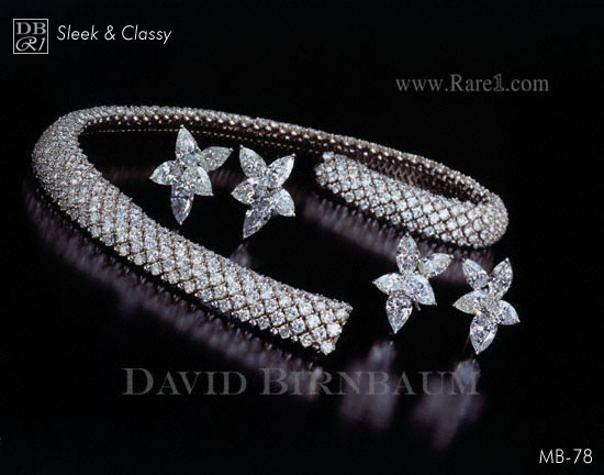 Diamond Choker Necklace & Earrings