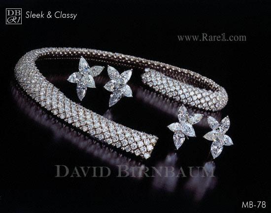Diamond Choker Necklace & Earrings