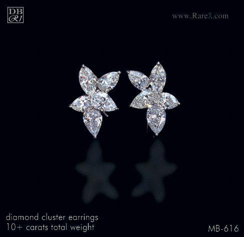 Classic Cluster Diamond Earrings