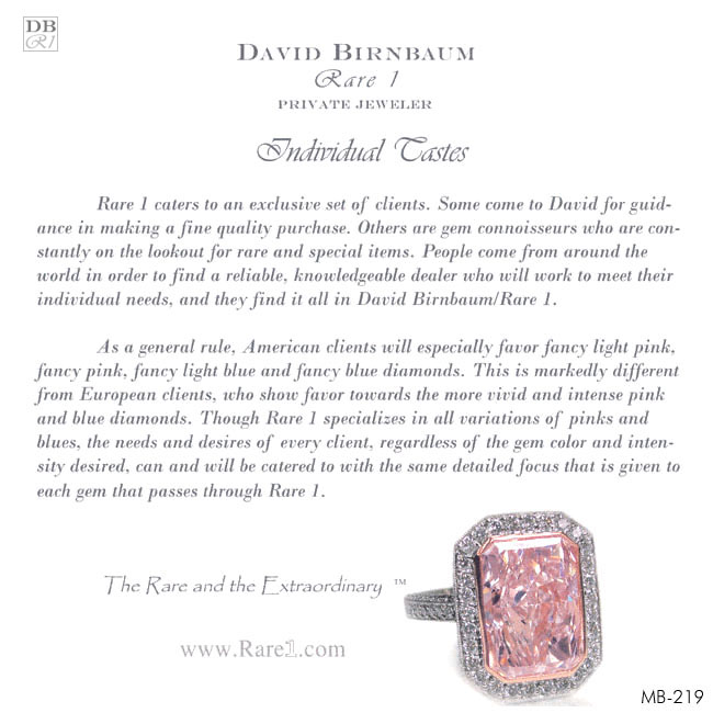 Fancy Pink / Radiant-Cut Diamond Ring