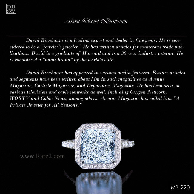 FANCY BLUE Radiant Cut Diamond Ring