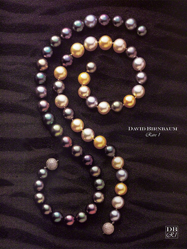 MULTI-COLOR Gem Tahitian Pearl Necklace