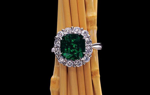 Gem Emerald & Diamond Ring