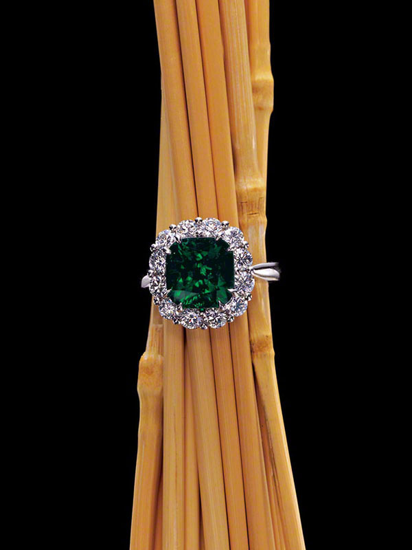 Gem Emerald & Diamond Ring