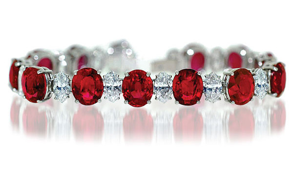 Burma Ruby & Diamond Bracelet