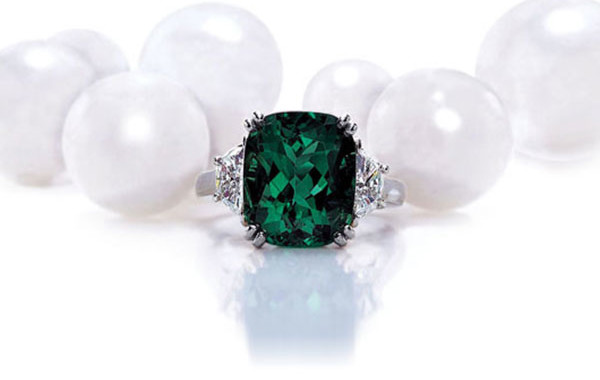 Gem Colombian Emerald & Diamond Ring