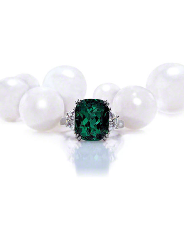 Gem Colombian Emerald & Diamond Ring