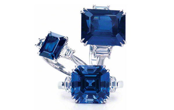 SQUARES & RECTANGLES Gem Sapphire Rings