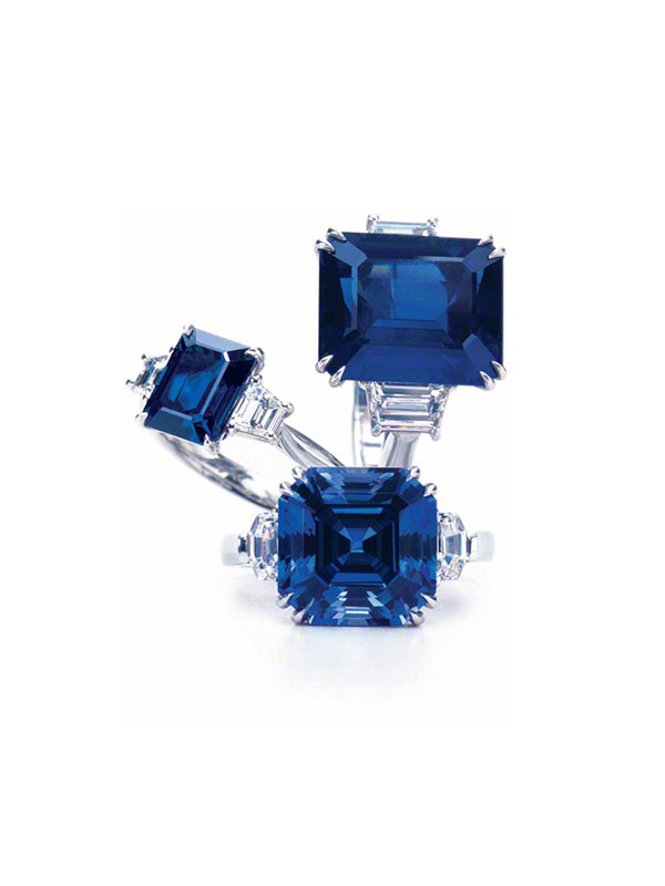SQUARES & RECTANGLES Gem Sapphire Rings