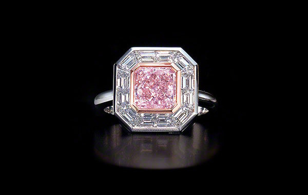 Natural Fancy Color Rare Pink Diamond Ring