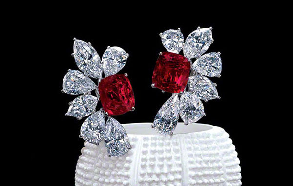 Burma Ruby Earrings & Ruby Ring
