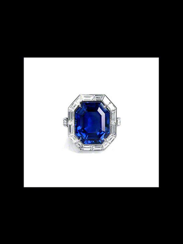 Burma Sapphire & Diamond Ring