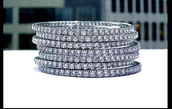 Stack-able Diamond Bangles