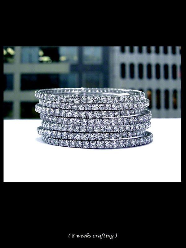 Stack-able Diamond Bangles