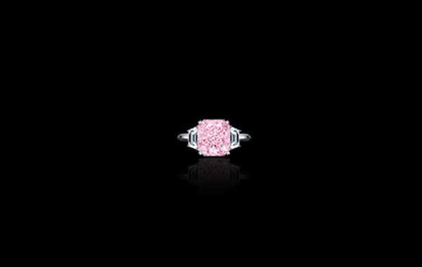 Fancy Purplish Pink Diamond Ring