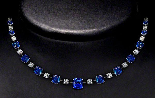 Sapphire Diamond Ensemble Set