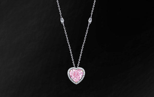 Natural Fancy Pink Diamond – HeartShaped Pendant