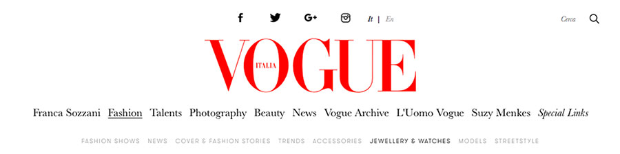 VOGUE ITALIA Article David Birnbaum / Rare 1: A Realm of Fashion Perfection in Gemstone Jewelry