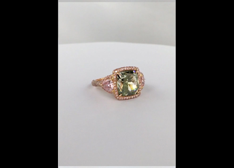 Fancy Colored Diamonds Videos, 8+ carats Fancy Deep Green Diamond