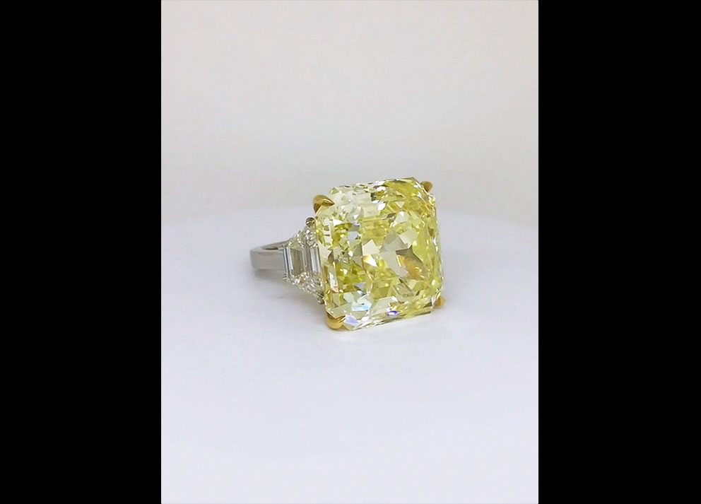 Fancy Colored Diamond, 30+ carats Fancy Intense Yellow