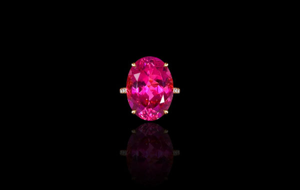 Raspberry Tourmaline Ring