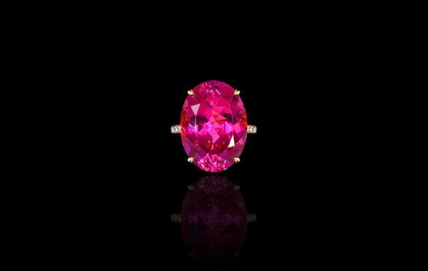 Raspberry Tourmaline Ring