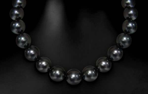 Black Tahitian Beauty Pearl Necklace