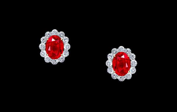 Burma Ruby Earrings