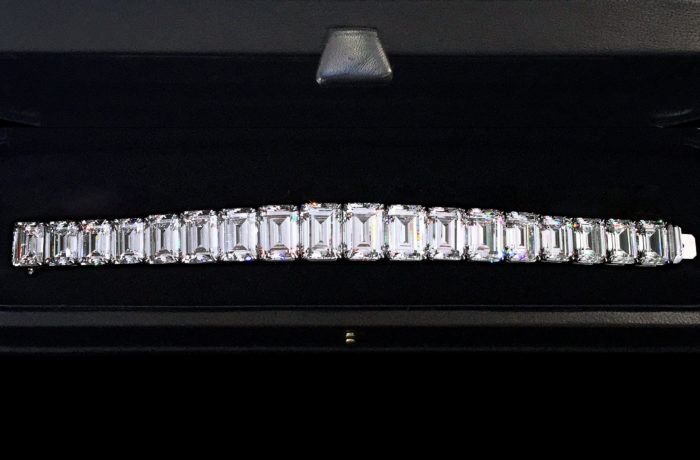 Emerald-cut Diamond Bracelet