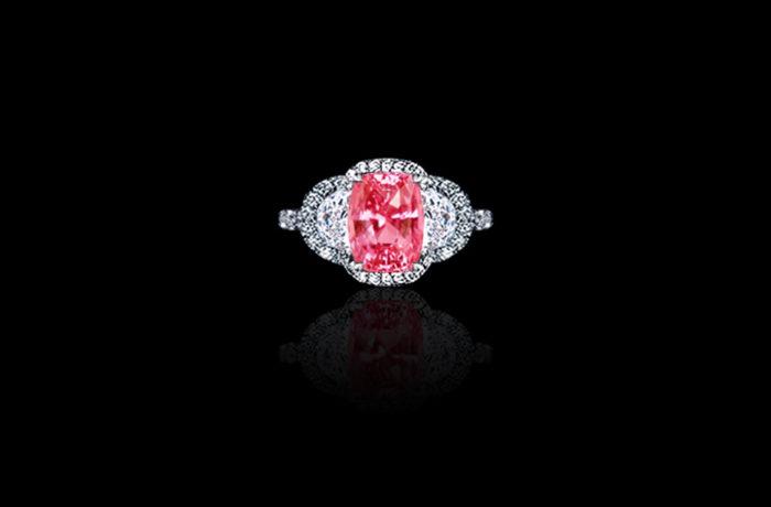 Gem Padparadscha Sapphire Ring