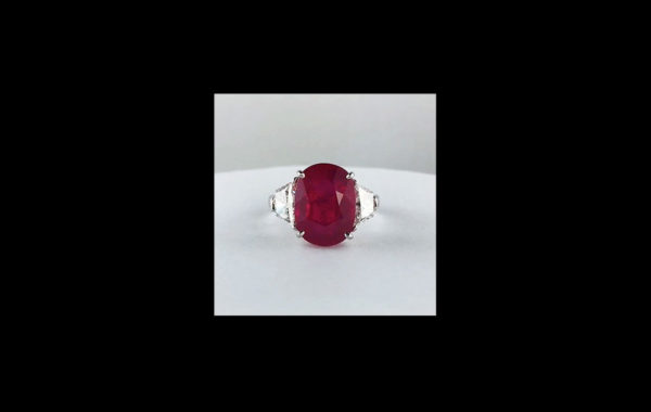 Vivid Red Ruby Ring