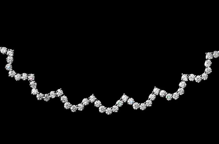 """Scallop"" Diamond Necklace"
