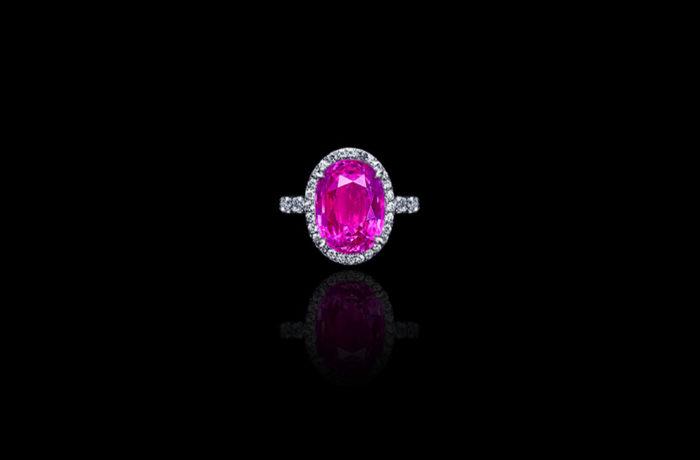 Gem Pink Sapphire Ring