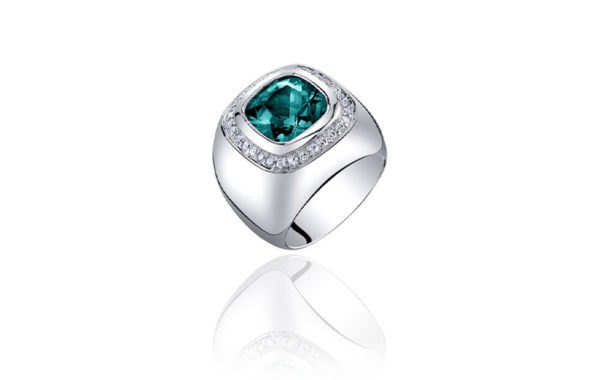 Gem Indicolite Tourmaline Ring