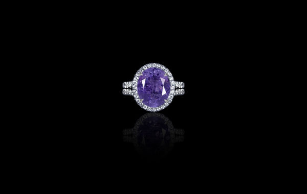 Purple Tanzanite Ring