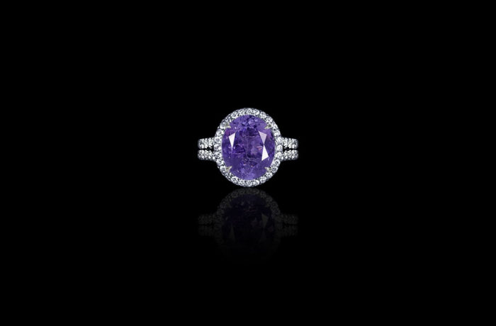 Purple Tanzanite Ring