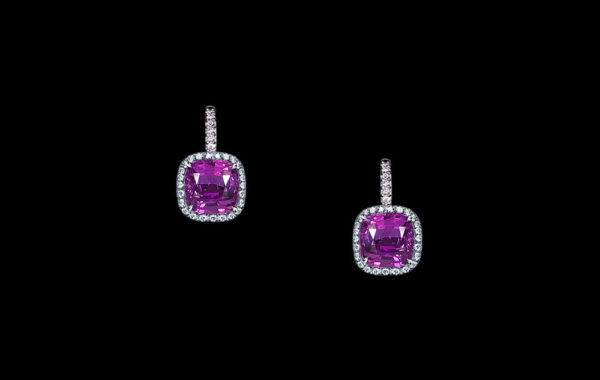 Gem Purple Sapphire Earrings