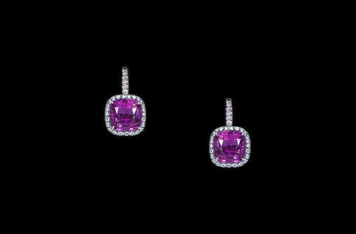 Gem Purple Sapphire Earrings